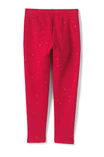 Little Girls Novelty Fleece Lined Leggings, Back