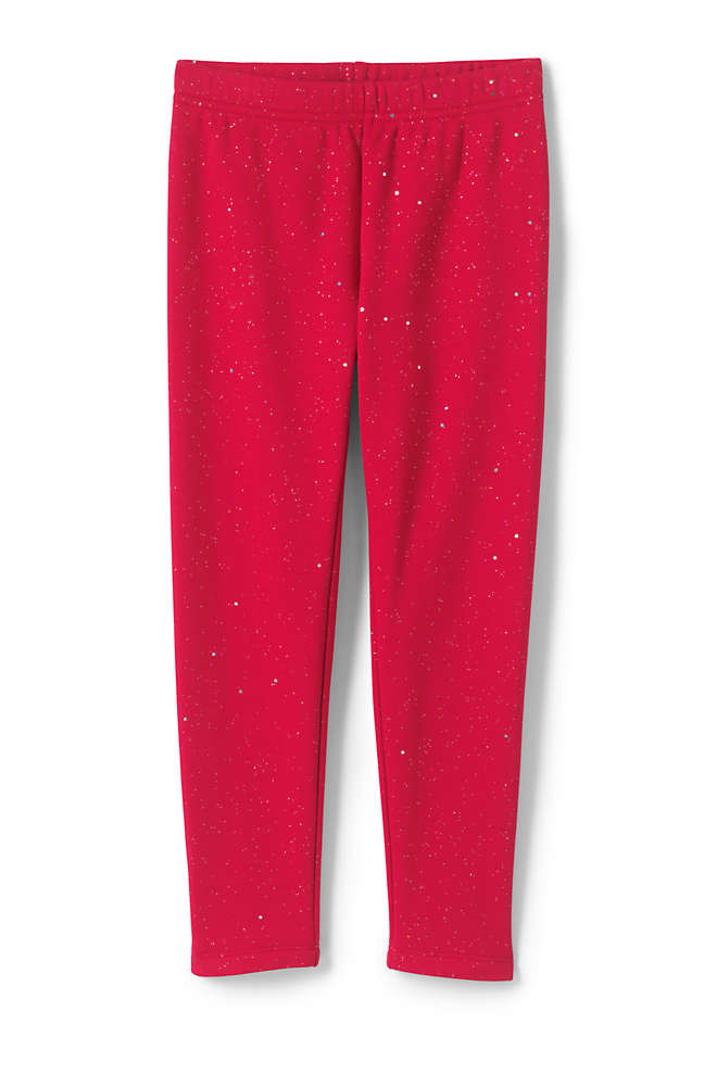Little Girls Novelty Fleece Lined Leggings, Front