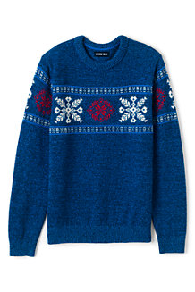 Winter-Pullover mit Schneeflocken-Bordüre für Herren