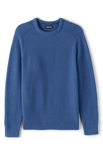 Men's Marl Cotton Blend Crew Neck Jumper