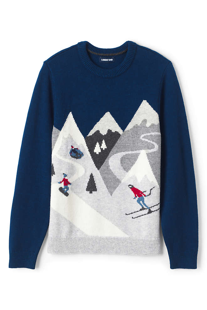 Men's Lighthouse Slope Graphic Crew Sweater, Front