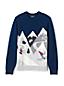 メンズ・ウィンター・グラフィック・セーター/スキースロープ/長袖