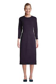 Women's 3/4 Sleeve Starfish Knit Sheath Dress