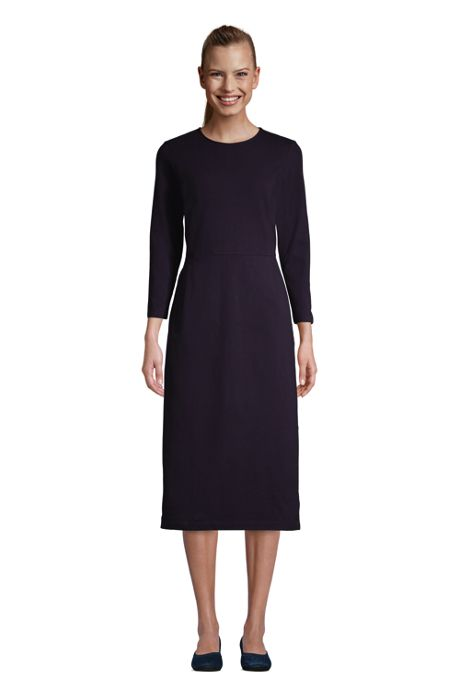 Women's 3/4 Sleeve Starfish Knit Sheath Dress