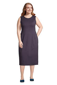 Women's Plus Size Sleeveless Starfish Knit Sheath Dress