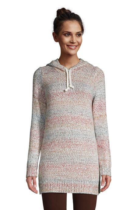 Women's Rainbow Tunic Hoodie Sweater