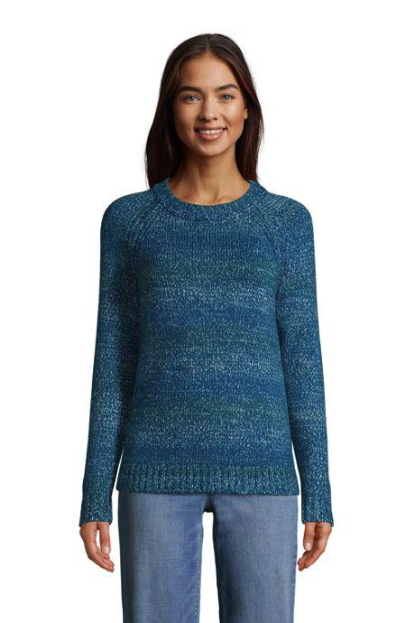 Women's Raglan Sleeve Crew Neck Sweater - Rainbow