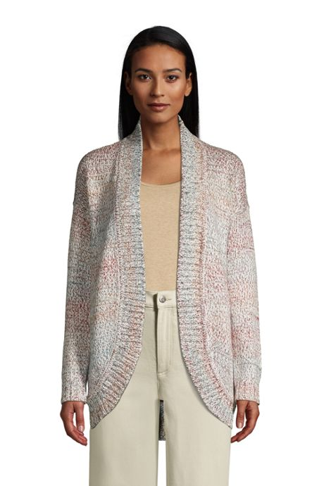 Women's Petite Rainbow Long Sleeve Cocoon Cardigan