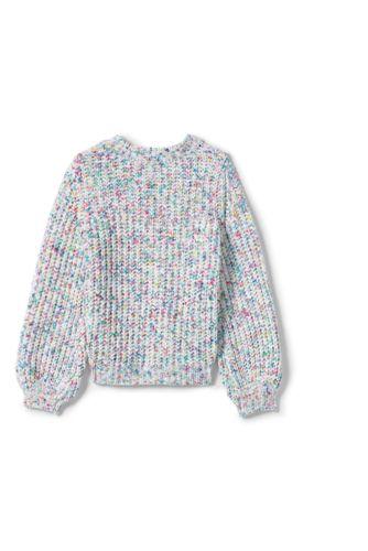 Girls Chenille Blouson Sleeve Sweater