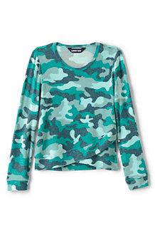 Gemustertes Jersey-Shirt mit Saum-Detail für Mädchen