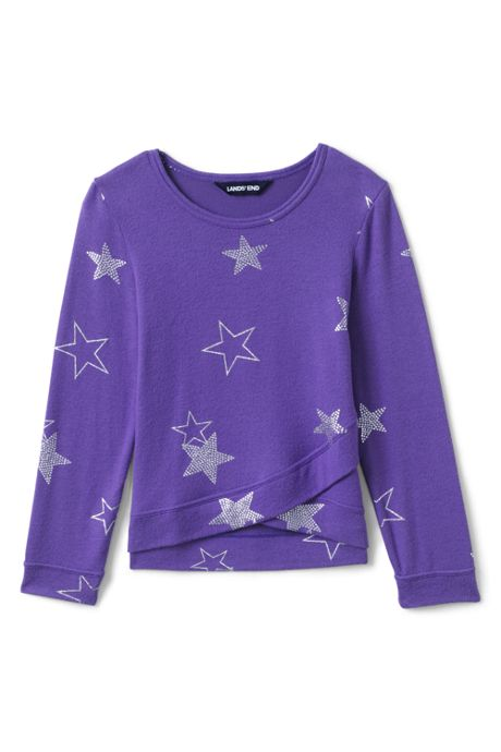 Toddler Girls Long Sleeve Soft Brushed Pattern Top