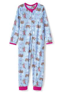 Gemusterter Schlaf-Jumpsuit aus Fleece für Kinder
