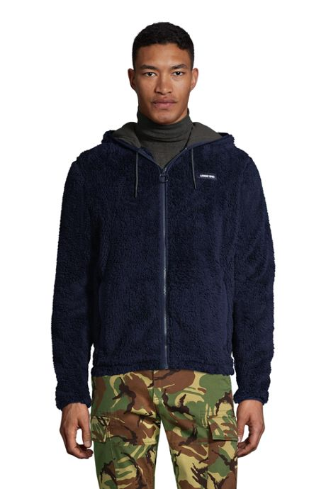 Men's Tall Softest Sherpa Fleece Full Zip Hoodie