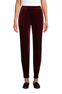 Women's Sport Knit Velvet Pull On Tapered Trousers