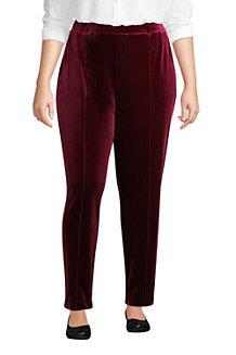 Women's Sport Knit Velvet Pull On Tapered Trousers