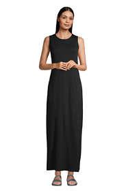 Women's Cotton Jersey Sleeveless Swim Cover-up Maxi Dress