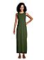 Maxi Robe de Plage Sans Manches en Coton, Femme Stature Standard