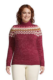 Women's Plus Size Cozy Lofty Bobble Turtleneck Sweater - Pattern