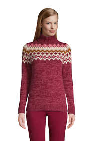 Women's Petite Cozy Lofty Bobble Turtleneck Sweater - Pattern