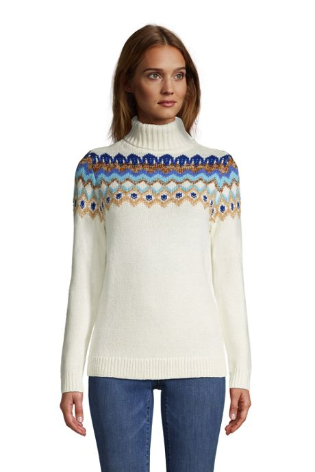 Women's Tall Cozy Lofty Bobble Turtleneck Sweater - Pattern