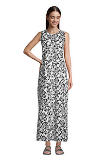 Women's Cotton Jersey Sleeveless Cover-up Maxi Dress