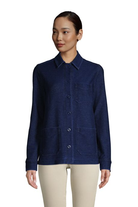 Women's Indigo Sport Knit Shirt Jacket