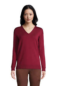 Women's Supima Cotton V-neck Pullover Sweater