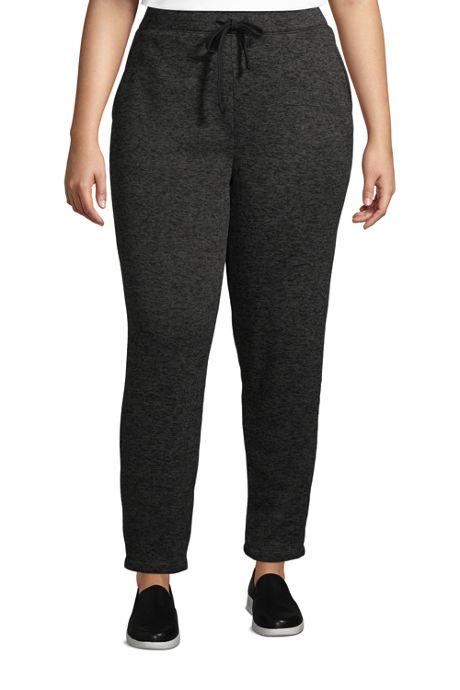 Women's Plus Size Sweater Fleece Ankle Pants