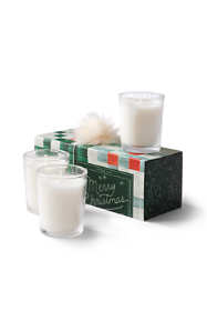 Merry Christmas Votive Candles- Set of 3