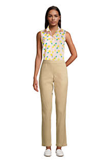 Women's Petite Mid Rise Pull On Chino Ankle Pants, alternative image