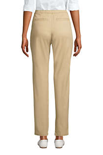 Women's Petite Mid Rise Pull On Chino Ankle Pants, Back