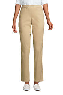 Women's Petite Mid Rise Pull On Chino Ankle Pants, Front