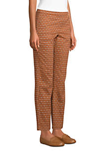Women's Mid Rise Pull On Chino Ankle Pants, alternative image