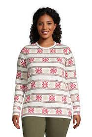Women's Plus Size Long Sleeve Quilted Sweatshirt Tunic