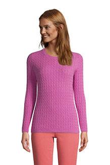 Kaschmir-Pullover mit Zopfmuster für Damen