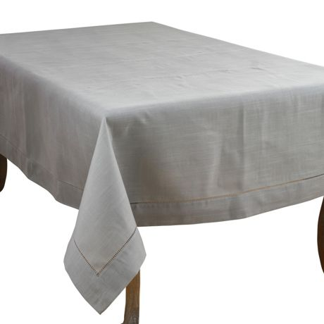 Saro Lifestyle 70x180 Classic Hemstitch Border Rectangle Tablecloth