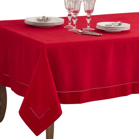Saro Lifestyle 70x160 Classic Hemstitch Border Rectangle Tablecloth