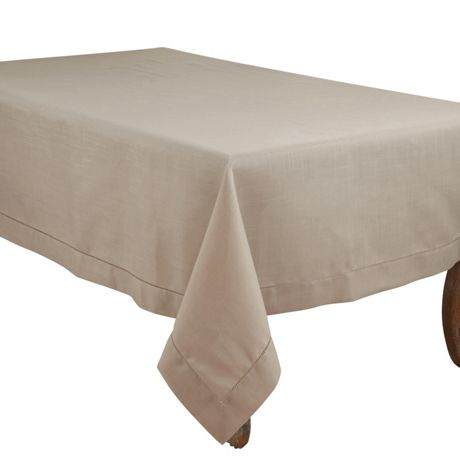 Saro Lifestyle 70x104 Classic Hemstitch Border Rectangle Tablecloth
