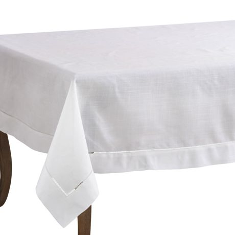 Saro Lifestyle 70x120 Classic Hemstitch Border Rectangle Tablecloth