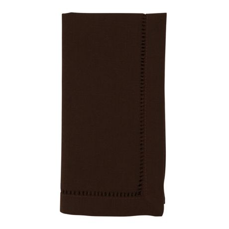 Saro Lifestyle Classic Hemstitch Border Dinner Napkins - Set of 12