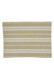 Saro Lifestyle Striped Cotton Placemats- Set 4