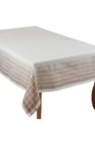Saro Lifestyle 65x84 Modern Striped Rectangle Tablecloth