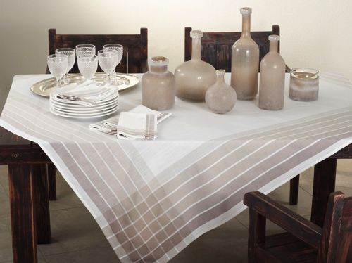 72x72 Modern Striped Square Tablecloth