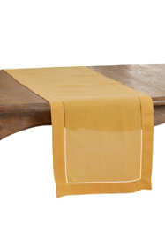 Saro Lifestyle 16x72 Classic Hemstitch Border Table Runner