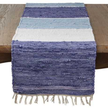 Tasseled Chindi Cotton Table Runner