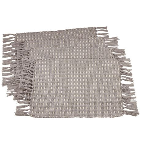 Saro Lifestyle Dashed Woven Cotton Placemats - Set of 4