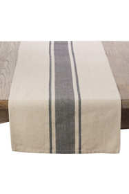 16x90 Banded Pattern Cotton Table Runner