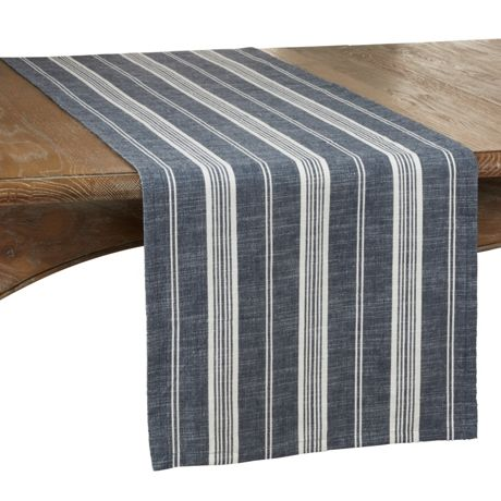 Striped Cotton Table Runner
