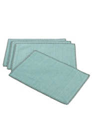 Saro Lifestyle Whip Stitched Cotton Placemats - Set of 4