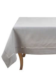 Saro Lifestyle 84x84 Classic Hemstitch Border Square Tablecloth